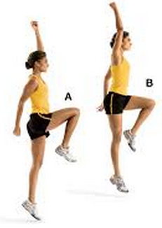 Skip down and back, focusing on driving your body up to get the maximum height possible. Repeat for 2x10.